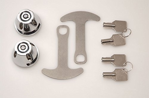 Lidlox 1032-C - Bar End Helmet Lock Pair for Kuryakyn ISO and Kinetic Grips Chrome