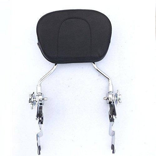 HK Motorcycle Chromed Adjustable Detachable Backrest Sissy Bar with pad For 2007 2008 2009 2010 2011 2012 2013 2014 2015 Harley Davidson FLHR Road King FLHX- Street Glide