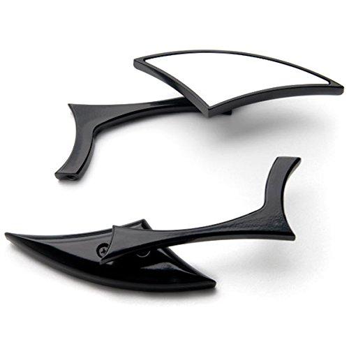 Krator Custom Rear View Mirrors Black Pair wAdapters For Harley Davidson Road King Custom Classic