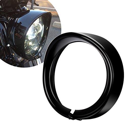 MOVOTOR 7 Inch Headlight Bezel Trim Ring for Harley Davidson Road King