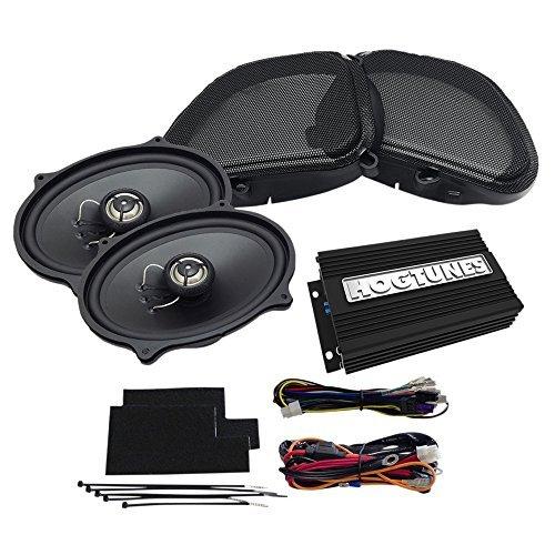 Hogtunes REV200RGKIT-AA Front Speaker Kit 200 Watt 100W x 2 CH Amp with for 1998-2013 Harley-Davidson FLTR Road Glide Models