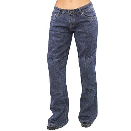 Xelement Womens Cruiser Blue Denim Armored Motorcycle Pants - 16