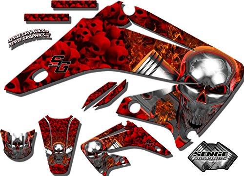 Senge Graphics 2004-2013 Honda CRF 70 Flaming Gearhead Red Graphics kit