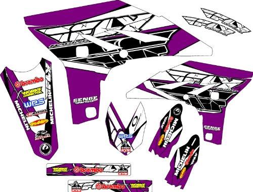 Senge Graphics 2004-2013 Honda CRF 70 Fly Racing Purple Graphics kit