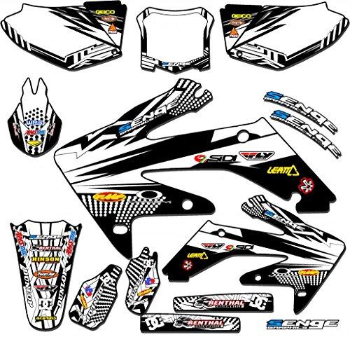 Senge Graphics 2004-2013 Honda CRF 70 Mayhem White Graphics kit