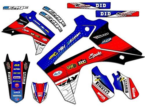 Senge Graphics 2004-2013 Honda CRF 70 Riccochet Blue Graphics kit