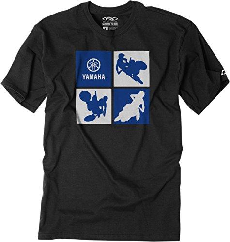 Factory Effex Unisex-Child Yamaha Silhouette Youth T-Shirt Black Large 1 Pack