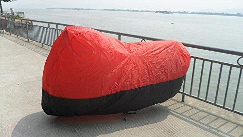 Black Red XL Motorcycle cover 4 Harley Road King Custom