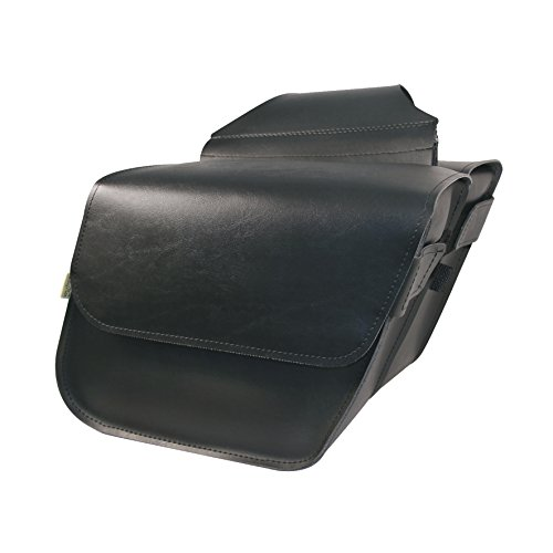 Willie Max By Dowco - Raptor Series - Compact Slant - Saddlebag Set - Lifetime Limited Warranty - UV Protection - Maintenance Free Synthetic Leather - Universal - Up To 20L Capacity  58801-00