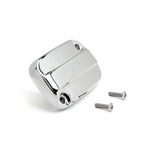 Krator Front Brake Fluid Cap Chrome Billet Reservoir Cap For 2013-2014 Harley Davidson Road King