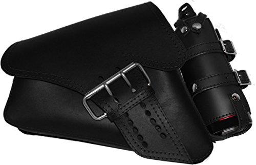 La Rosa Design 04-UP Harley Davidson SportsterNightster883 IronXL1200 Left Side Saddle Bag Swingarm Bag with Fuel Bottle