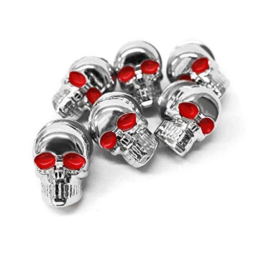 Krator Custom Chrome Skeleton Skull Bolt Nuts Screws 6mm For Harley Davidson Dyna Glide Wide Glide FXDWG FXWG