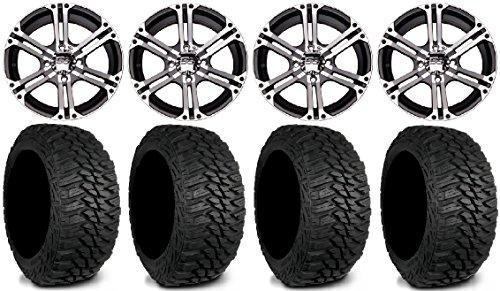 ITP SS212 15 Wheels Machined 31 Mud Hog LT Tires Kawasaki Teryx Mule