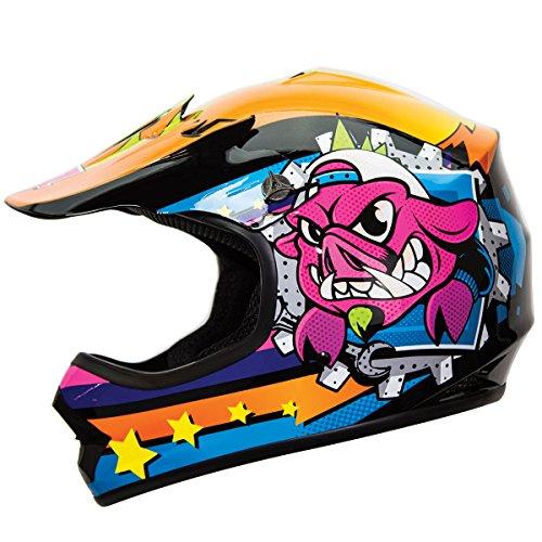 IV2 YouthKid War Hog Jr Junior Motocross Motorsport ATV Dirt Bike Helmet DOT - XL