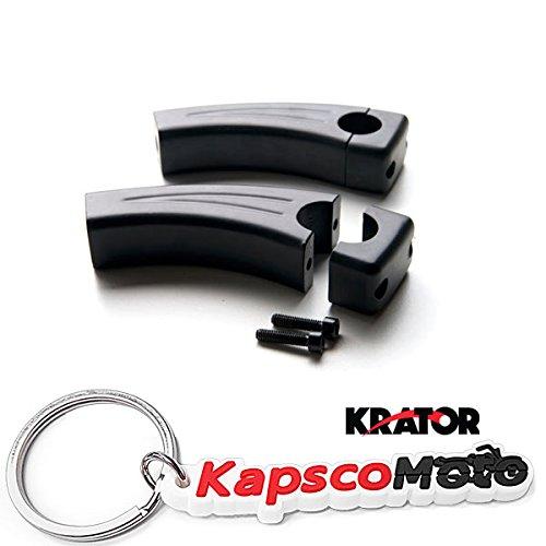 Krator 45 Black Motorcycle Handlebar Pullback Risers 1 Bar Hand Bar Risers Riser Custom Billet Chrome HONDA KAWASAKI SUZUKI HARLEY CRUISERS HOGS Metric Motorcycle Bikes  KapscoMoto Keychain