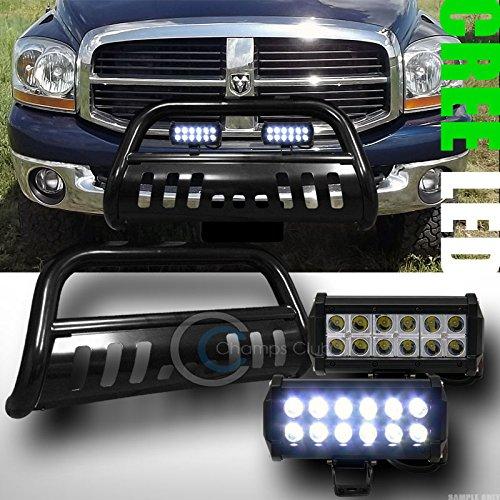 BLK BULL BAR BUMPER GRILL GUARD36W CREE LED FOG LIGHTS 2006-2008 DODGE RAM 1500