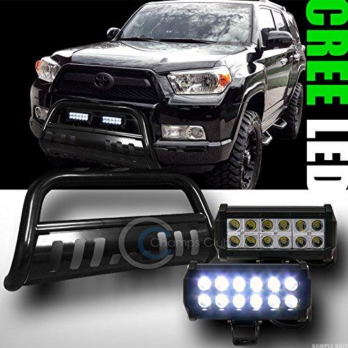 BLK BULL BAR BUMPER GRILL GUARD36W CREE LED FOG LIGHTS LAMPS 2010-2014 4RUNNER