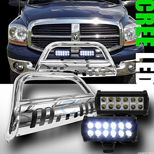 CHROME BULL BAR BUMPER GRILL GUARD V236W CREE LED FOG LIGHTS 2006-2008 RAM 1500