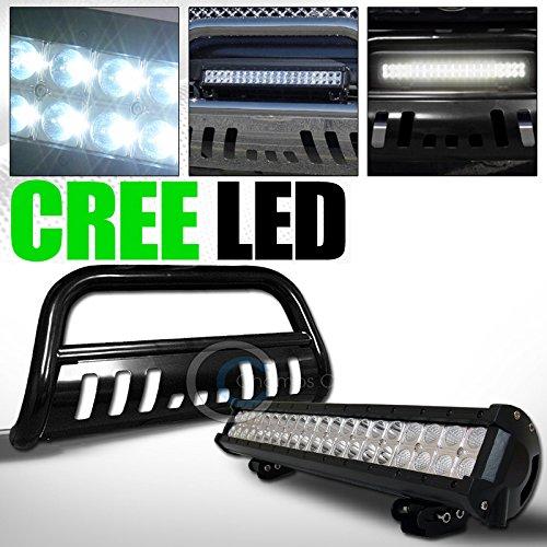 BLACK STEEL BULL BAR BUMPER GUARD W120W CREE LED FOG LIGHT 2007-2014 FJ CRUISER