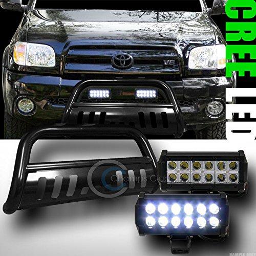 BLK BULL BAR BUMPER GUARD36W CREE LED FOG LIGHTS 1999-2006 TUNDRA2001 SEQUOIA