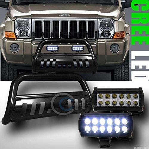 BLK BULL BAR BUMPER GUARD36W CREE LED FOG LIGHTS 2005 GRAND CHEROKEECOMMANDER