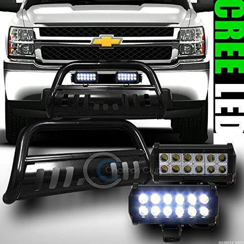BLK BULL BAR BUMPER GUARD36W CREE LED FOG LIGHTS 2014 SILVERADOSIERRA 1500