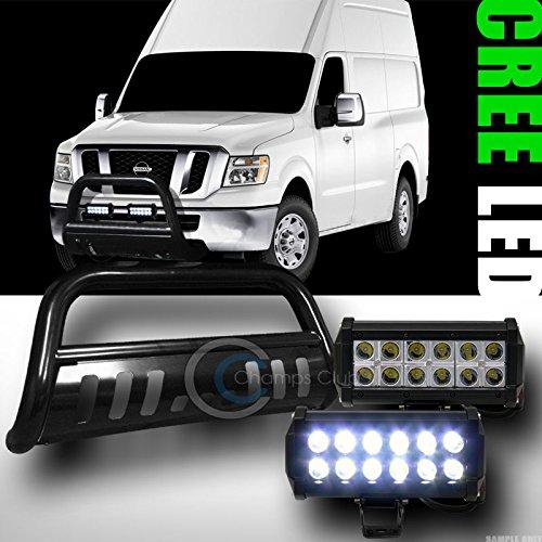 BLK BULL BAR BUMPER GUARD36W CREE LED FOG LIGHTS FOR 2012-2015 NV NV1500NV2500