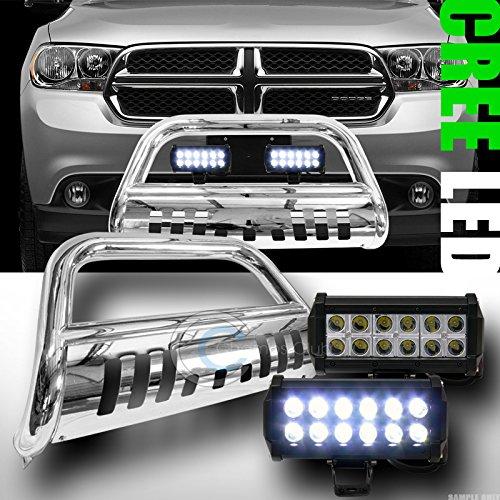 CHROME BULL BAR BUMPER GUARD V236W CREE LED FOG LIGHTS 2011-2014 DODGE DURANGO