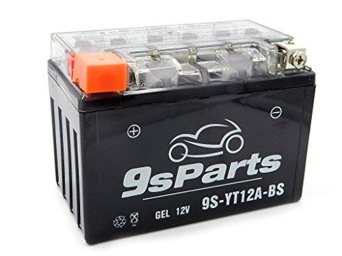 9sparts YT12A YT12A-BS Maintenace Free Factory Activated 12V Sealed Gel Battery For 2007-2016 Suzuki Bandit FA GSF1250S 1999-2007 Suzuki Hayabusa GSX 1300R 2000-2017 Suzuki GSXR750 GSXR 750