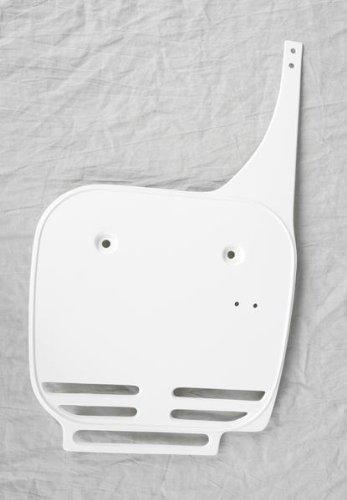 UFO Plastics Front Number Plate White for Kawasaki KX60 84-04