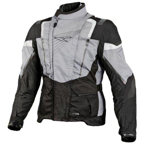 Macna Mens GEO 2 Motorcycle Jacket Black Medium