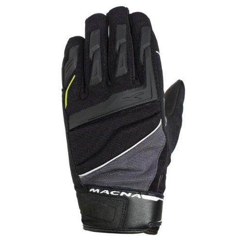 Macna Mens Morene Summer Motorcycle Gloves Black Small