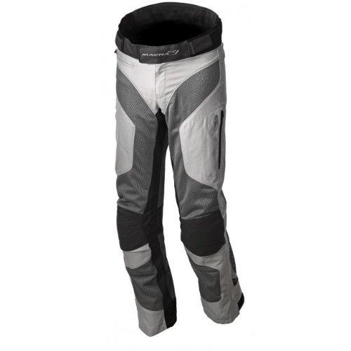 Macna Mens Silicum Motorcycle Pants Gray Large