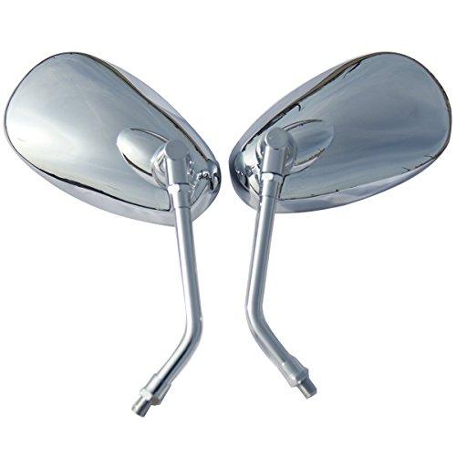One Pair Chrome Oval Mirrors for 1992 Suzuki Intruder 1400 VS1400GLP