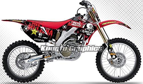 Kungfu Graphics Mental Mulisha Custom Decal Kit for Honda CRF250R 2006 2007 Red Black