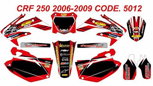 5012 HONDA CRF 250 2006-2009 DECALS STICKERS GRAPHICS KIT