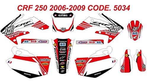 5034 HONDA CRF 250 2006-2009 DECALS STICKERS GRAPHICS KIT