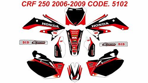 5102 HONDA CRF 250 2006-2009 DECALS STICKERS GRAPHICS KIT