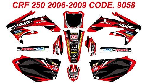 9058 HONDA CRF 250 2006-2009 DECALS STICKERS GRAPHICS KIT