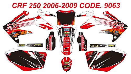 9063 HONDA CRF 250 2006-2009 DECALS STICKERS GRAPHICS KIT