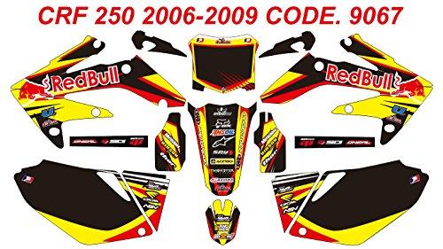 9067 HONDA CRF 250 2006-2009 DECALS STICKERS GRAPHICS KIT