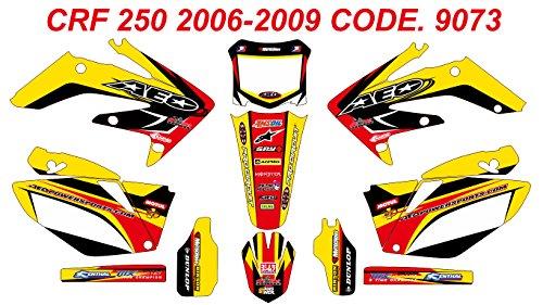 9073 HONDA CRF 250 2006-2009 DECALS STICKERS GRAPHICS KIT