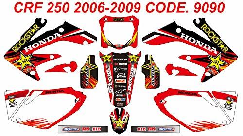 9090 HONDA CRF 250 2006-2009 DECALS STICKERS GRAPHICS KIT