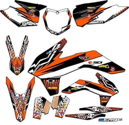 Senge Graphics 2017 KTM SX 125150250 Mayhem Orange Graphics Kit
