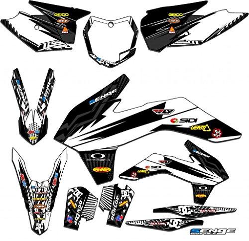 Senge Graphics 2017 KTM SX 125150250 Mayhem White Graphics Kit