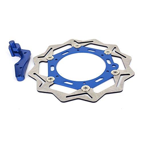Stainless Steel 270MM Front Floating Brake Disc Bracket - KTM SX 125 XCW 200 SX250 SXF250 XC250 XC-F 250 XCW250 XCF-W250 XC300 XCW300 SXF350 SXF450 XC-F505 - Blue