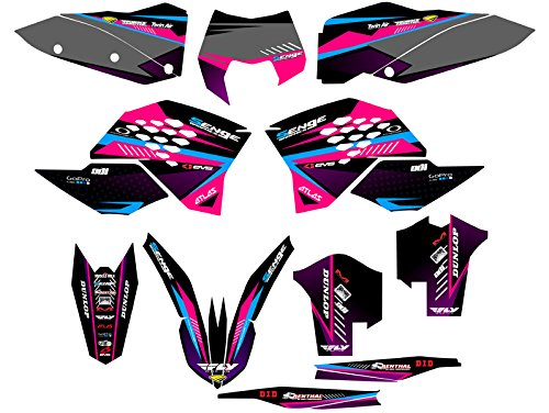 Senge Graphics 2008-2010 KTM XCF Surge Pink Graphics Kit