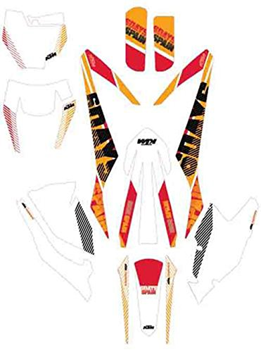 NEW OEM KTM SIX DAYS GRAPHICS KIT SPAIN 125 150 250 300 350 450 500 SX XC SXF XCF EXCF 2016-2017 79608990000