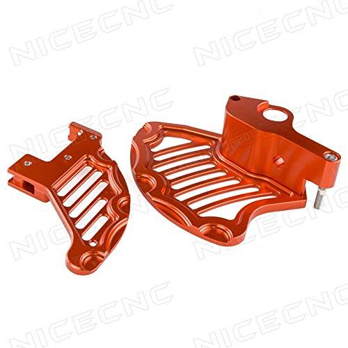 NICECNC Orange Front Rear Brake Rotor Disc Guard for 125-450 SXXCSX-FXC-F 20152016-Up 250-500 XC-WEXCXCF-W 2016-Up Husqvarna 125-450 FCTC 20152016-Up 125-501 TEFE 2016-Up