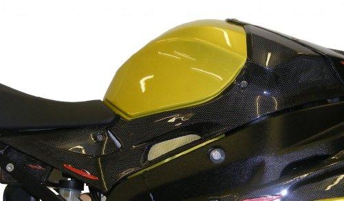 Powerbronze 207-B101-581 carbon fibre side panel to fit BMW S1000RR Carbon Fibre - Gold Mesh pair